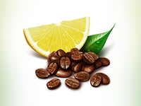 Coffee and lemon