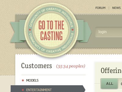 Gotothecasting design web design site taipandesign dipixel website web casting gui interface