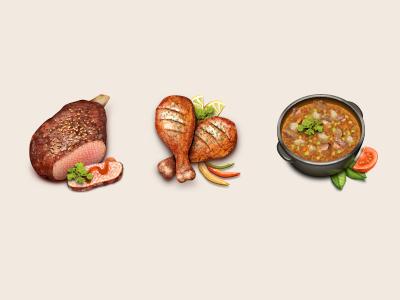 Few icons of food icon iphone ipad cook dipixel taipandesign