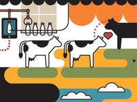 Processing cows