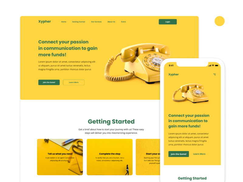 Xypher - Landing Page