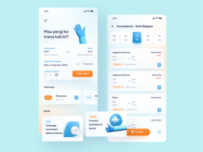 Train Ticketing App - Design Exploration gradient blue ticket app uiux mobile app ticket booking 3d train app design ux minimal clean ui