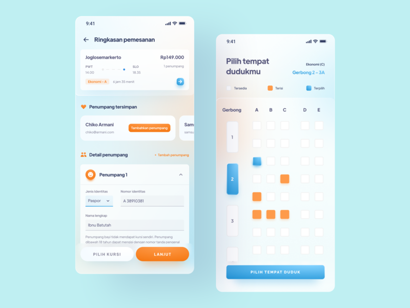 Train Ticketing App (2) - Design Exploration soft mobile app uiux ux train ticket booking gradient 3d app design layout design clean ui minimal