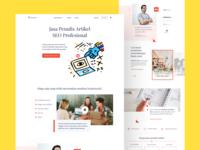 Landing Page - Kontenesia serif serifs copywriting minimal landing web ui uiux web design layout clean beautiful landingpage homepage webpage