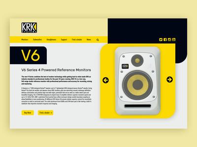 KRK V6 speakers product page concept