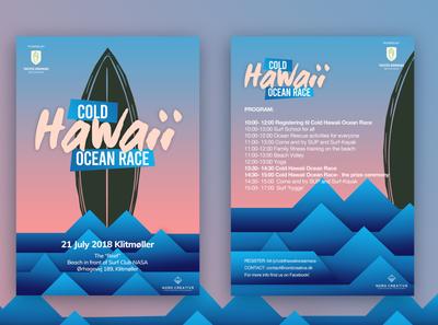 Cold Hawaii Ocean Race_Poster Design