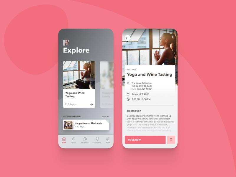 Social living app - design iteration social ios mobile ui