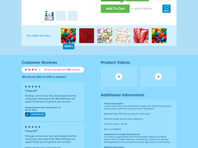 A Candy Store - Product Page
