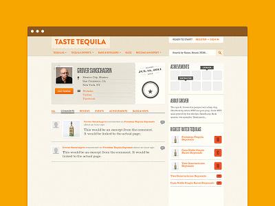 Taste Tequila - Member Profile Page