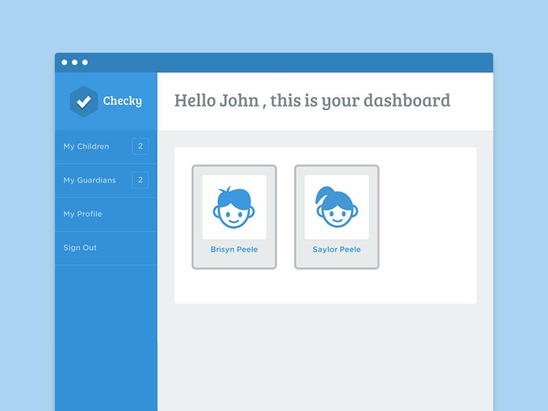 Checky - Dashboard flat dashboard