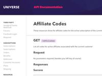 Sparkart Universe API documentation