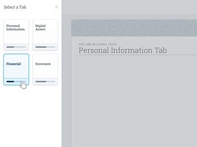 Tab Selection icons open sans roboto slab ex ui