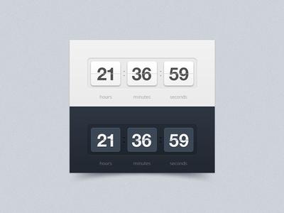 Timer timer white blue component widget counter