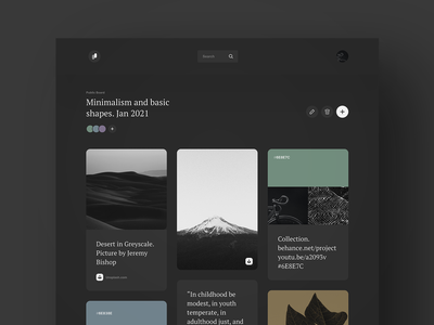 Patchwork - Dark mode masonry cards card tile homepage mode dark