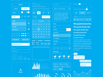 Mobile UI Blueprint (freebie) 1.3 mobile ui blueprint kit free freebie psd