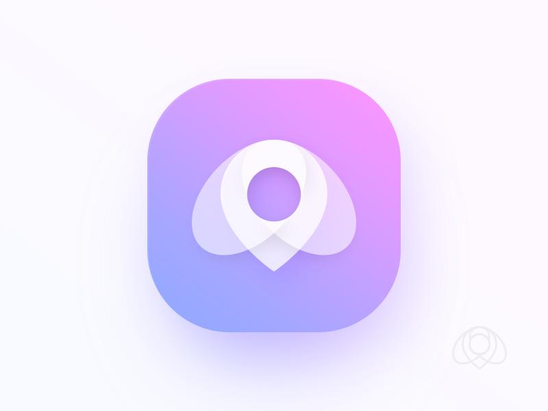 Bee + Pin logo icon app pin bee
