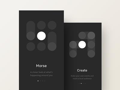 Morse Onboarding - Night mode exploration mobile app mode night dark onboarding morse