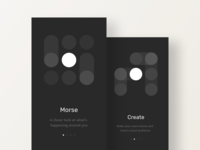 Morse Onboarding - Night mode exploration mobile app mode night dark onboarding morse