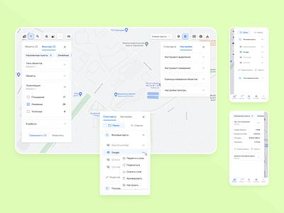 Web Application Of A Map Editor design ui ui design figma interface adaptive layout configurator editor material design web application google map maps