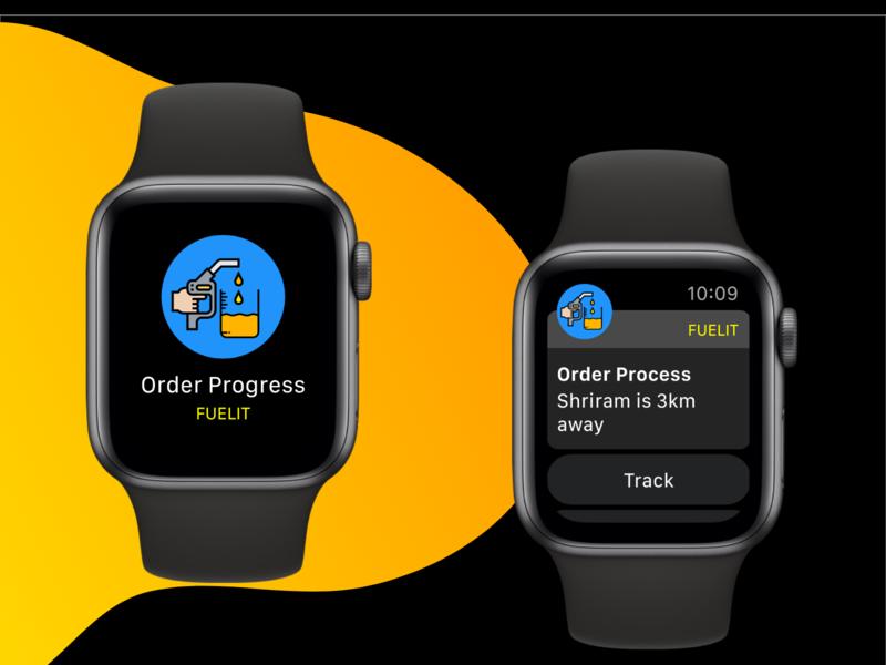 IOS apple Watch Notification Screens UI