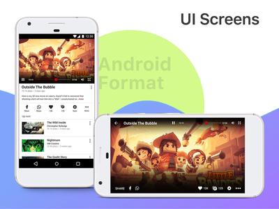 Single UI Screen Design