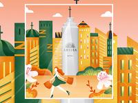 ANESSA  illustration poster02