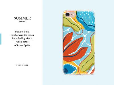 SUMMER case iphone flower art illustration