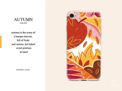 AUTUMN case iphone season autumn art illustration