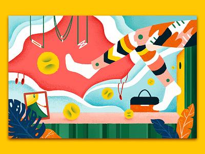Fashion Illustration04 jewelry art illustration