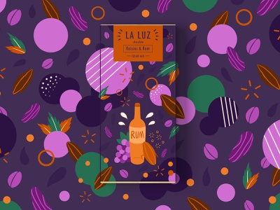 LA LUZ packagedesign02 ——raisins&rum packagedesign rails rumble raisins chocolate art