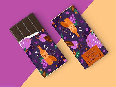 LA LUZ packagedesign ——raisins&rum02 packagedesign rum raisins illustration art