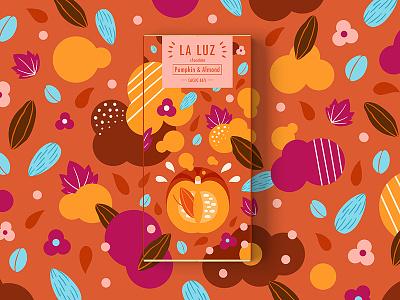 LA LUZ packagedesign03 ——pumpkin&almond chocolate packagedesign art illustration