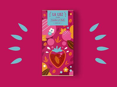 LA LUZ packagedesign04 ——strawberry&dark chocolate packagedesign art illustration