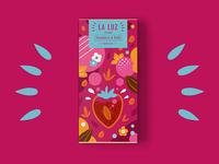 LA LUZ packagedesign04 ——strawberry&dark