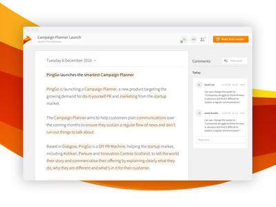 PingGo - Press Release Writing Tool