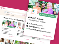 Search for care homes online