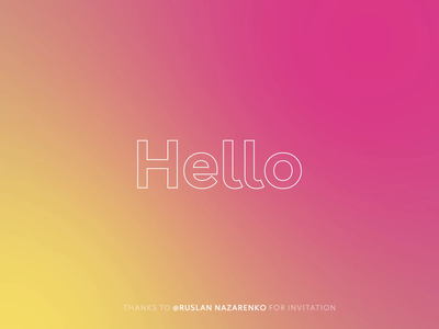 Hello Dribbble debut animation hellodribbble first shot hello debutshot hello world hello dribbble