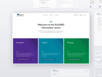 Eligard – Microsite health care medical informational portal animation clean medicine ui healthcare webdesign website web design web
