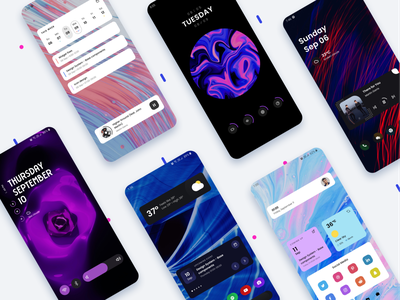 Poppins Widgets typogaphy music calendar news weather ui homescreen personalisation customization wallpapers android app widgets