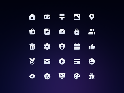 Slicons Essential Solid Icons rounded system icons rounded icons iconset ui minimal solid icons