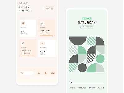 Elega Widgets mobile pattern android personalisation minimal widgets homescreen
