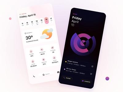 Poppins Widgets wallpaper ui android personalisation minimal widgets homescreen
