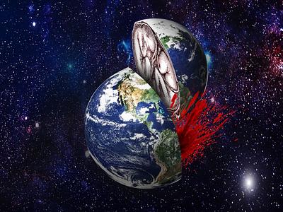 Mother earth photomanipulation photoshop illustration branding socialmedia marketing campaign graphicdesgn