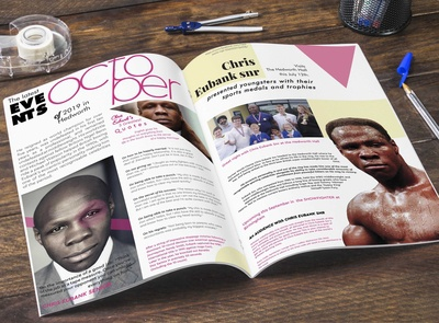 A spread designed for New edition of Pinks Magazine!