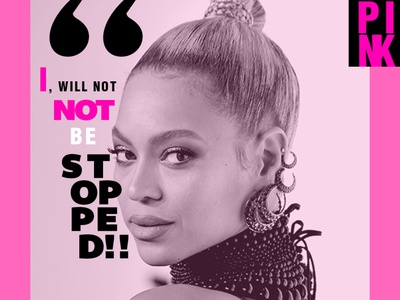 pinks post design, motivational quotes!