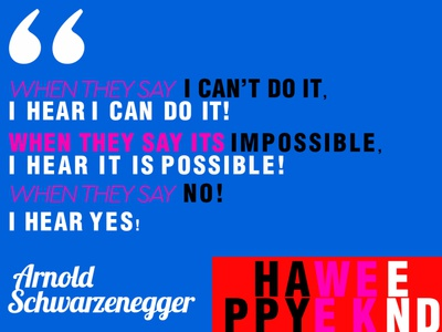 Motivational Quote Design for Pinks Magazine