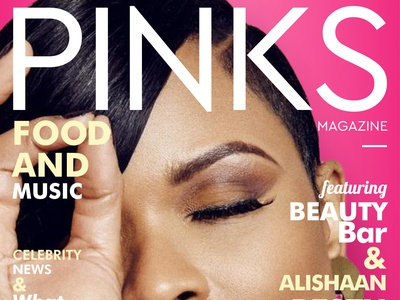 4th mag cover design for pink! edition 6th typography creaive vector illustration marketing magazine design branding graphics socialmedia marketing campaign graphicdesgn