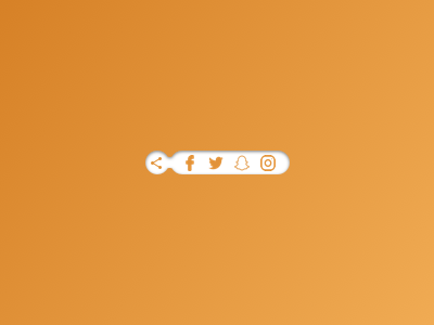 010 Social Share shadow orange brands shared share icons share button share vector icon dailyui daily 100 challenge daily 100 ux mockup app ui design