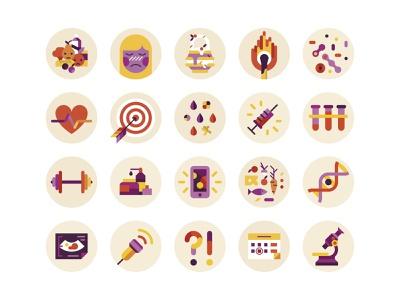 icons for women's magazine flat illustraion health women medical medicine icons icon