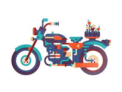 URAL motorcycle flower
